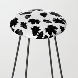 Falling Autumn Leaves in Black and White Counter Stool