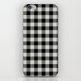 Cornsilk  Bison Plaid iPhone Skin