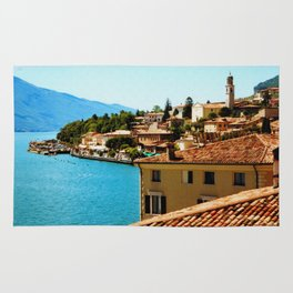 Limone Sul Garda Lake Garda Italy photo painting  Rug