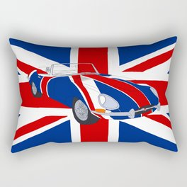 Shaguar (on Union Jack) Rectangular Pillow