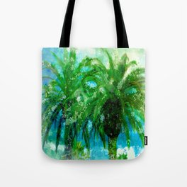 Palm Trees In Art 2 Tote Bag