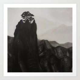 elephant hill Art Print