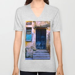 Chinese Facade of Hoi An in Vietnam Unisex V-Neck