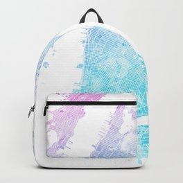 New York City Watercolor Map #5 Backpack