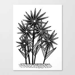 Spikey Pointy Flower Canvas Print