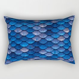 Blue Penny Scales Rectangular Pillow