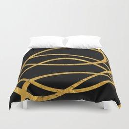 Golden Arcs - Abstract Duvet Cover
