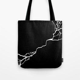 Diagonal Destroyed Dark Tote Bag