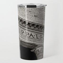 The Pantheon black and white Travel Mug