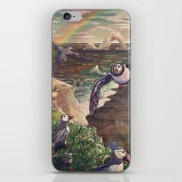 Cliffside Puffins iPhone Skin