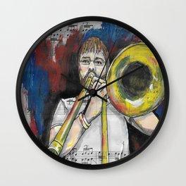 Jazz Trombone 2 Wall Clock