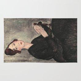 Portrait of Dedie Hayde by Amedeo Modigliani Rug