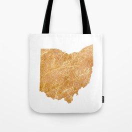 Gold Ohio Tote Bag