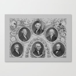 First Six Presidents of The United States of America Canvas Print