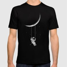 Moon Swing Mens Fitted Tee Black LARGE