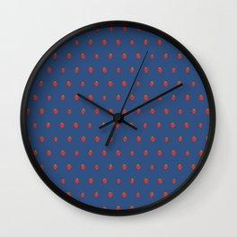 Blue Strawberry Field Wall Clock