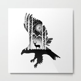 THE EAGLE AND THE DEER Metal Print