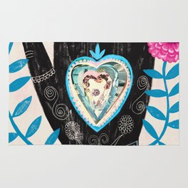 Heart in your hand Rug