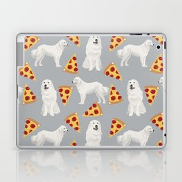 Great Pyrenees pizza dog portrait custom dog breed art print dog person gifts for christmas Laptop & iPad Skin
