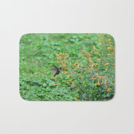 Hummingbird and orange agastache 51 Bath Mat