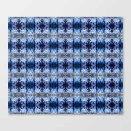 snowflake in blue 8 pattern Canvas Print