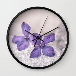 Zen Soft Pastel Purple Clematis Blossom Wall Clock