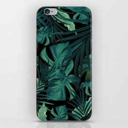 Tropical Jungle Night Leaves Pattern #1 #tropical #decor #art #society6 iPhone Skin