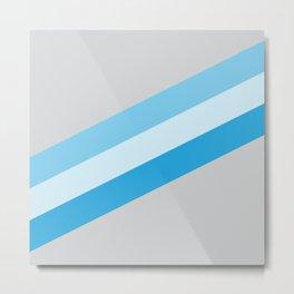 tri-blue stripes Metal Print