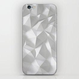 White polygonal landscape iPhone Skin
