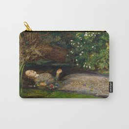 Ophelia from Hamlet Oil Painting by Sir John Everett Millais Carry-All Pouch