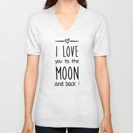 Love you to the Moon Unisex V-Neck