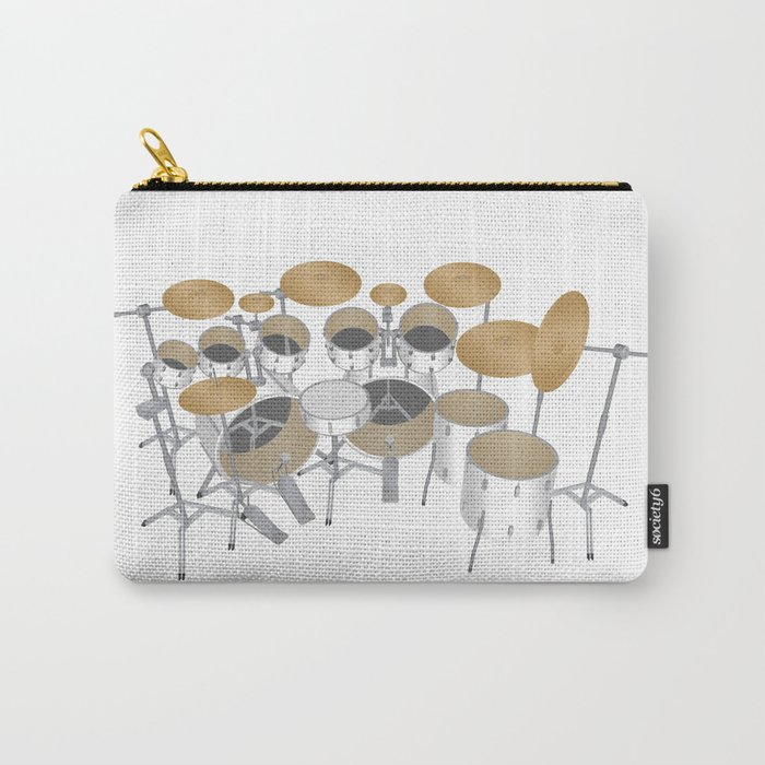 White Drum Kit Carry-All Pouch