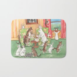 Tea with the Tabbies Bath Mat