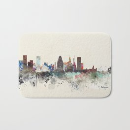 baltimore maryland skyline Bath Mat