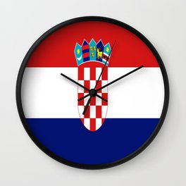 Flag of croatia -croatian, Hrvatska,croat,croacia,Zagreb,split,rijeka,osijek. Wall Clock