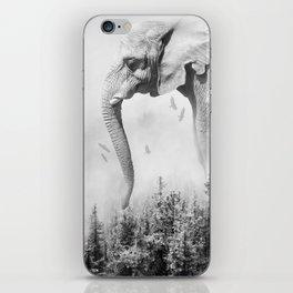 Elephant | Animal Photography | B&W | Nature | Fog | Wildlife | Abstract | Landscape iPhone Skin