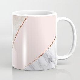 Spliced mixed rose gold marble Coffee Mug