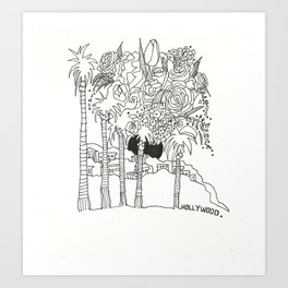 Hollywood Palms Art Print