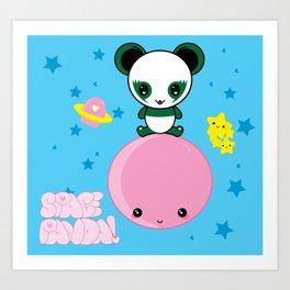 Space Panda! Art Print