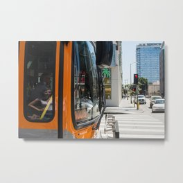 Reflection in the glass Metal Print