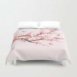 Pink Cherry Blossom Dream Duvet Cover