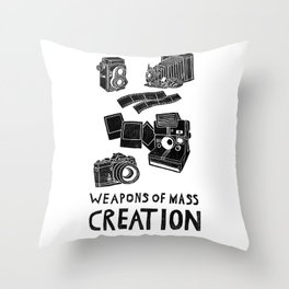 Weapons Of Mass Creation - Photography (clean) Throw Pillow