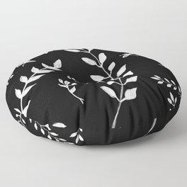 White Leaves Pattern #3 #drawing #decor #art #society6 Floor Pillow