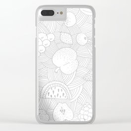 Fruit Faded Clear iPhone Case