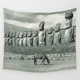 EASTER ISLAND VISTA Wall Tapestry
