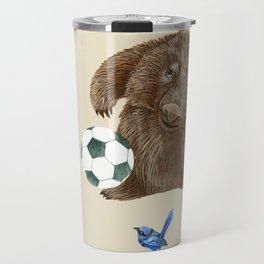 Blue wrens Wombat Football Travel Mug