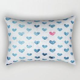 One Red Heart Rectangular Pillow
