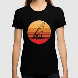 Windsurfing Retro Sunset T-shirt
