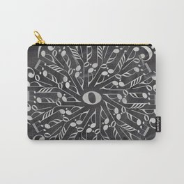 Musical mandala on chalkboard Carry-All Pouch