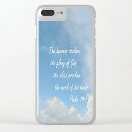 The Heavens Declare Clear iPhone Case